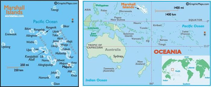 Underwater Travelogue Ebeye Kwajalein Atoll Marshall Islands - Marshall islands map